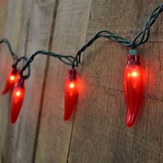 Chili Pepper Lights 35 Count Red Chili Pepper String Lights