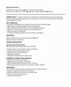 Cv For Receptionist Position 13 Receptionist Curriculum Vitae Templates Pdf Doc