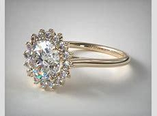 engagement rings, unique, 14k yellow gold diamond pave