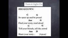 Light On Chords Turn A Light On Lyrics And Chords Youtube