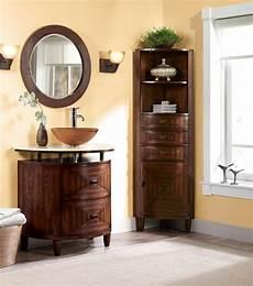 corner linen cabinet for space saving bathroom idea