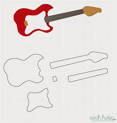 Acoustic Guitar Cake Template Printable 17 Awsome Guitar Cake Templates Amp Designs Free