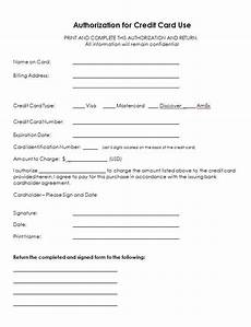Form Letter Template Word Credit Card Authorization Form Templates Formats Examples