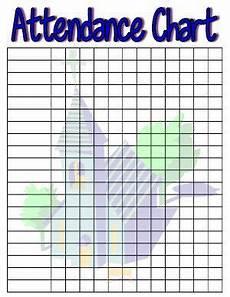 Printable Attendance Chart For Kids Sunday School Attendance Charts Sunday School Kids