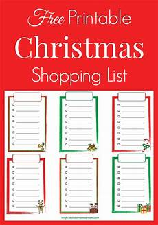 Shopping Checklists Free Printable Christmas Shopping List Christmas