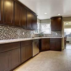design house assembled kitchen cabinets in espresso