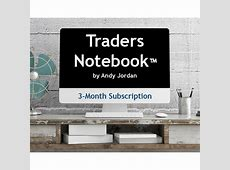 3 Month Traders Notebook Subscription