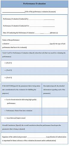 Performance Evaluation Template For Employees Performance Evaluation Template Doliquid