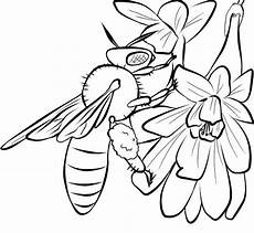 free printable bee coloring pages for