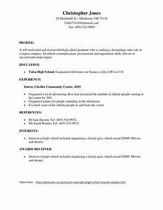 Awards For Resume Awards In 2020 High School Resume Template High School