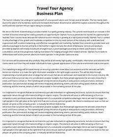Sample Travel Agency Business Plan 28 Business Plan Templates Word Pdf Docs Free