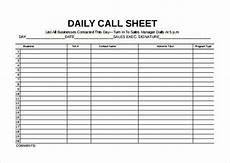 Daily Call Log Sheet Call Sheet Template 25 Free Word Pdf Documents