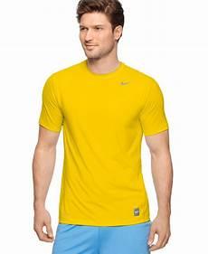 Custom Design Dri Fit T Shirts Nike Pro Combat Dri Fit T Shirts In Yellow For Men Lyst
