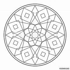 mandala mit geometrischen formen malvorlage kaufen sie