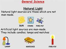 List Five Sources Of Light Natural And Artificial Light