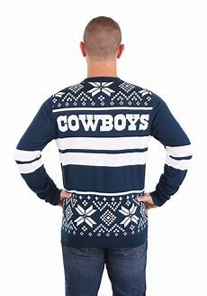 Dallas Cowboys Light Up Dallas Cowboys Two Stripe Big Logo Light Up Sweater