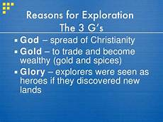 Reasons For European Exploration European Exploration And Colonization 09 10