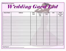 Wedding Guest List Spread Sheet Free 16 Wedding Guest List Templates In Pdf Ms Word Excel