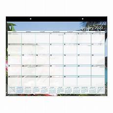 Calendar 2020 Office Office Depot Monthly Desk Pad Paradise 2020 Office Depot