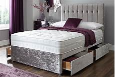 new york crushed velvet divan bed