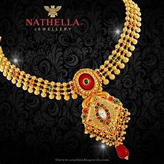 22k Gold Indian Jewellery Designs 22k Gold Necklace From Nathella Jewellery Necklace