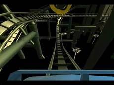 Rock N Roll Roller Coaster Lights On Rock N Roller Coaster With Lights On Rct 3 Youtube