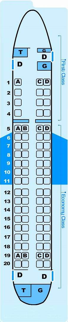 American Eagle Seating Chart Seat Map Northwest Airlines Embraer E75 Ec5 Seatmaestro