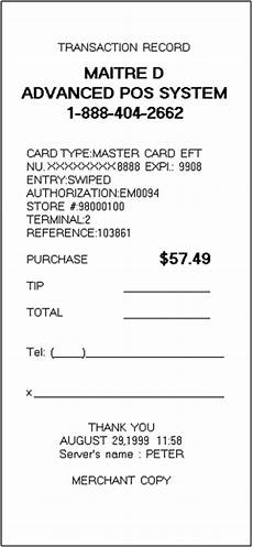 Credit Card Receipts Template 9 Credit Card Receipt Marital Settlements Information