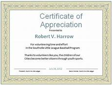 Certificate Of Appreciation Examples Word Certificate Template 53 Free Download Samples