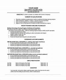 Resume For Welding Welder Resume Template 6 Free Word Pdf Documents