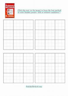 Sudoku Printable Grids Free Printable Blank Sudoku Grid Four Blank Sudoku Grids