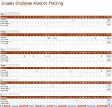 Employee Absence Template Employee Absence Tracking Excel Template
