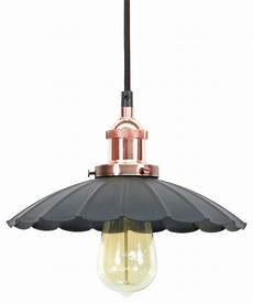 Braybrooke 4 Light Pendant Copper Ruffle Shade Pendant Light Farmhouse Pendant