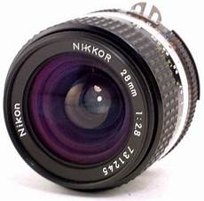 Manual Focus Nikkor 28mm F 2 8s Wideangle Lens