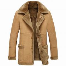 shearling coats for leather jacket shearling coats mens fashion slim