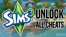 how to unlock all cheats in sims 3 working for