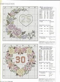 Free Wedding Cross Stitch Patterns Charts 25th And 30th Wedding Anniversary Charts Wedding Cross