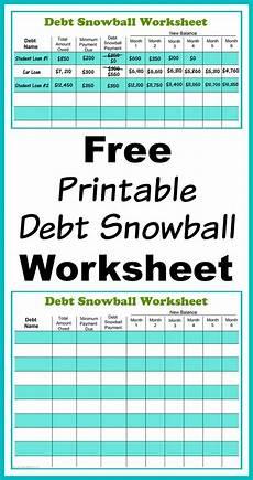 Snowball Worksheet Free Printable Debt Snowball Worksheet Pay Down Your Debt