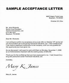 How To Accept An Offer Letter Free 14 Job Acceptance Letter Templates In Pdf Ms Word
