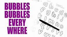 The Alphabet In Bubble Letters Bubble Letters Tutorial Lowercase Llamas Love