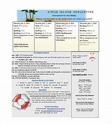 News Letter Templates For Teachers 9 Teacher Newsletter Templates Free Sample Example