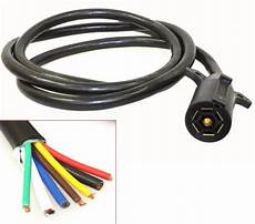 7ft foot 7 way trailer cord wire 7 harness light plug