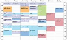 College Scheduler Example Student Schedule Aspergers Amp Ld Transition Programs