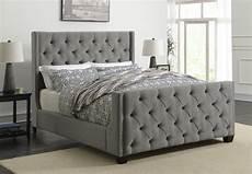 palma upholstered bed palma light grey upholstered