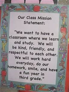 Classroom Mission Statement Great Class Mission Notice The Key Words Mission