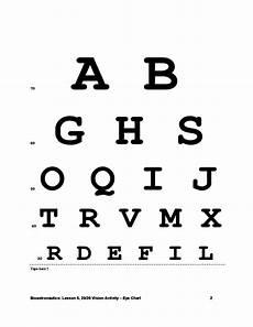 Eye Sight Chart 20 20 Vision Activity Eye Chart Free Download