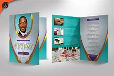 Birthday Party Program Royal Teal Pastor Birthday Party Program Template