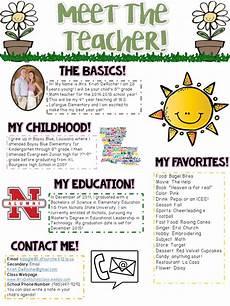 Meet The Teacher Newsletter Templates Meet The Teacher Newsletter Editable Spring Theme Meet