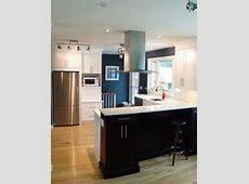 Kitchen Craft Cochrane MDF Cabinets, Alabaster White Lacquer, Lexington Maple Espresso Raised