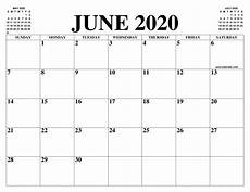June 2020 Calendar June 2020 Calendar Of The Month Free Printable June 2020